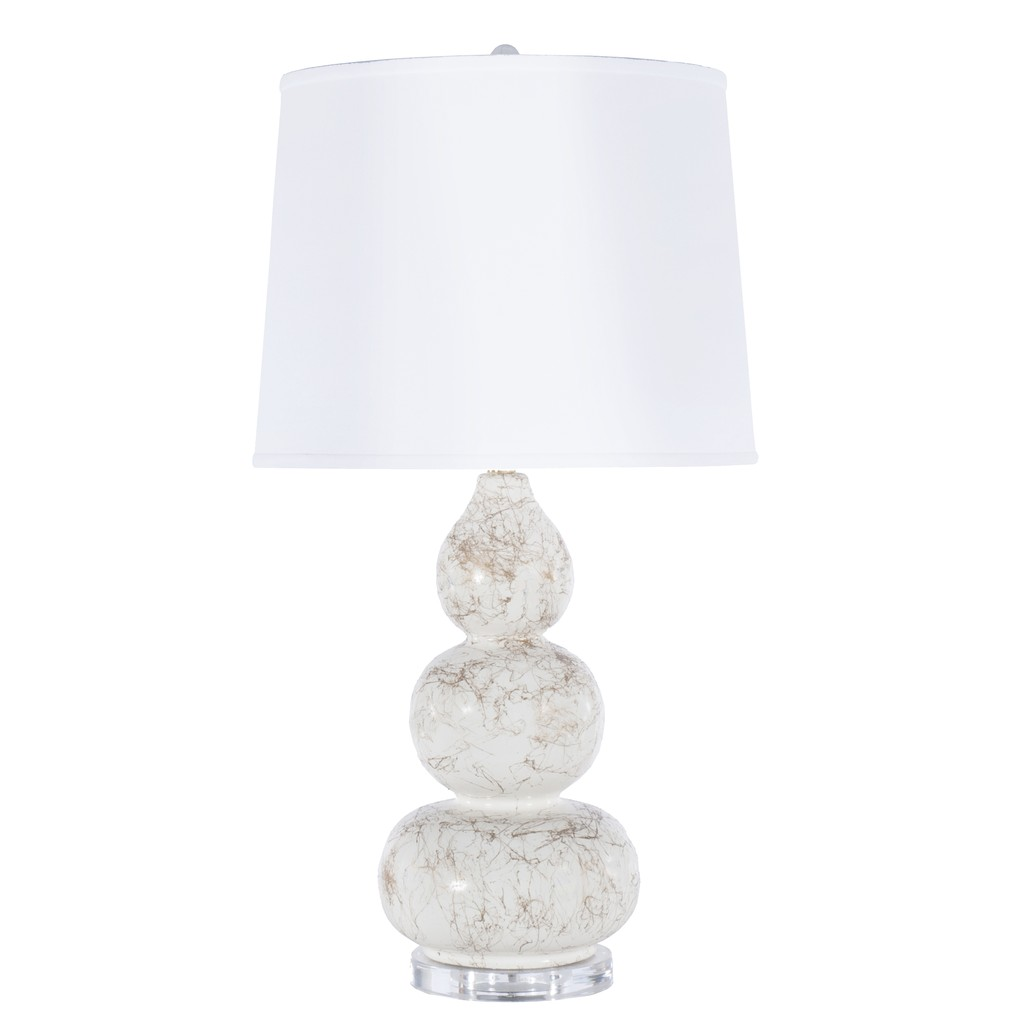 Delaney Table Lamp Gold Marbling Linen Shade | Worlds Away