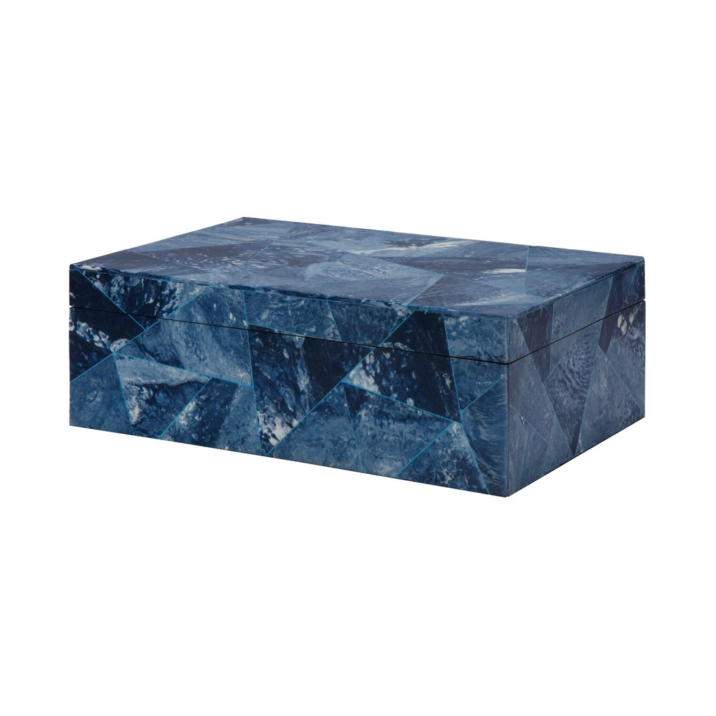Navy Blue Abstract Box | Worlds Away