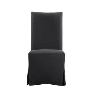 Flandia Black Slip Covered Chair