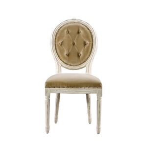 Vintage Louis Button Tufted Side Chair