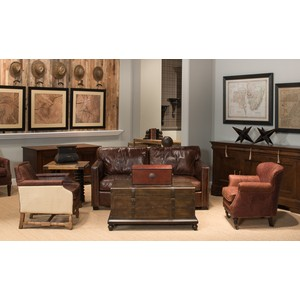 Baron's Leather Box Oxblood   Sarreid