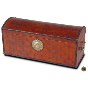 Baron's Leather Box, Oxblood | Sarreid