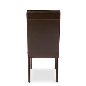 Brown Milano Side Chair   Sarreid