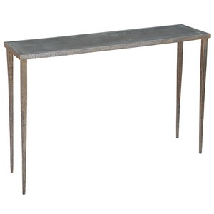 Dimpled Metal Console Table