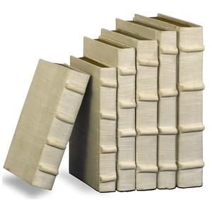 Set of 6 Linen Books | Sarreid