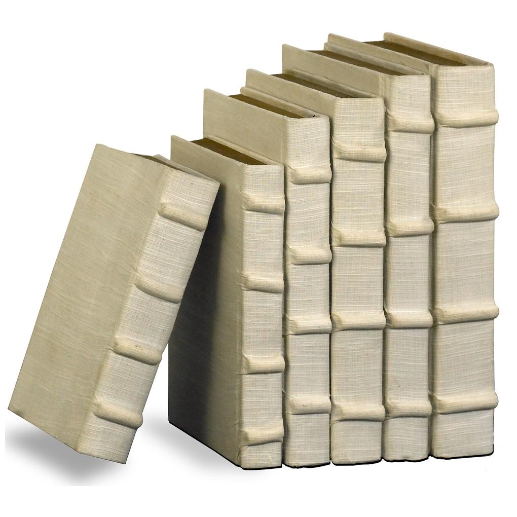 Ecru Linen Books, Set/6 | Sarreid