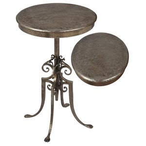 French Iron Wine Table | Sarreid