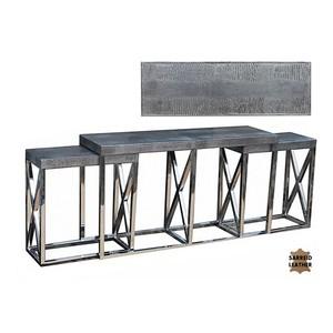 Stainless Steel Nesting Console | Sarreid