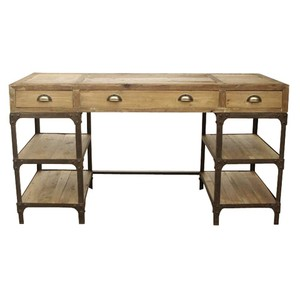 Pine and Iron Desk