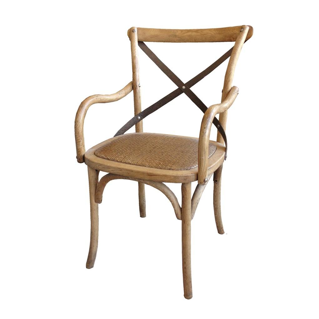 Cross Arm Chair w/ Metal Cross | GJ Styles