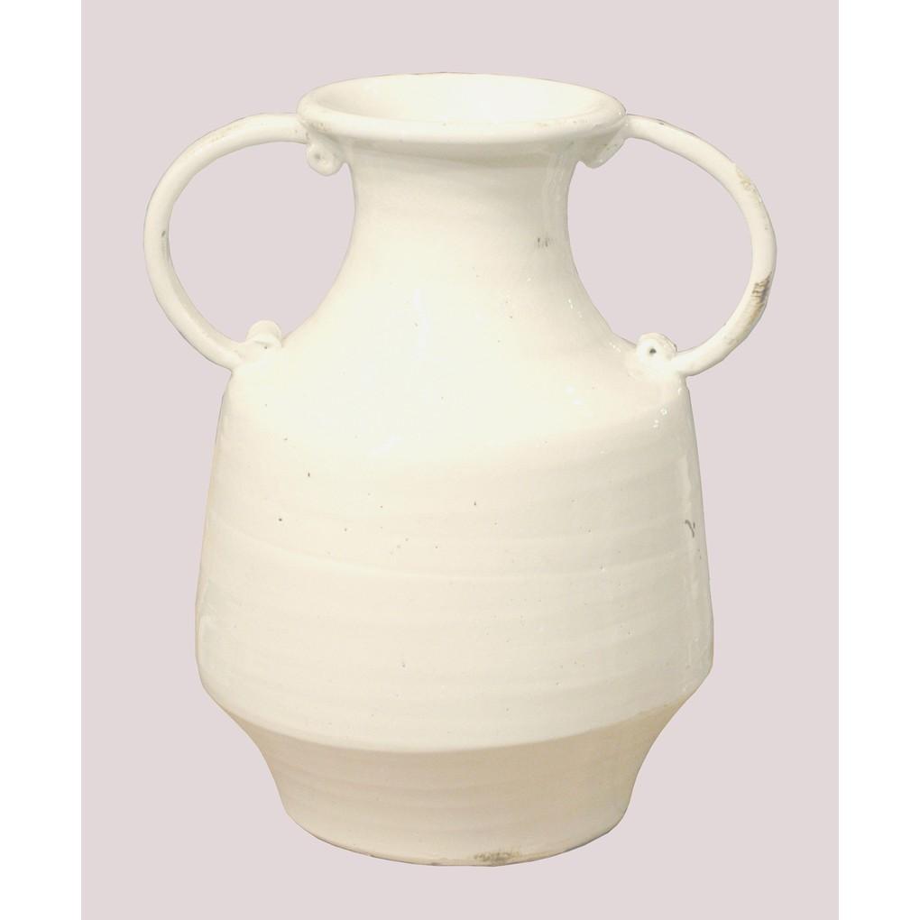 Charlotte Vase in Antique White   GJ Styles