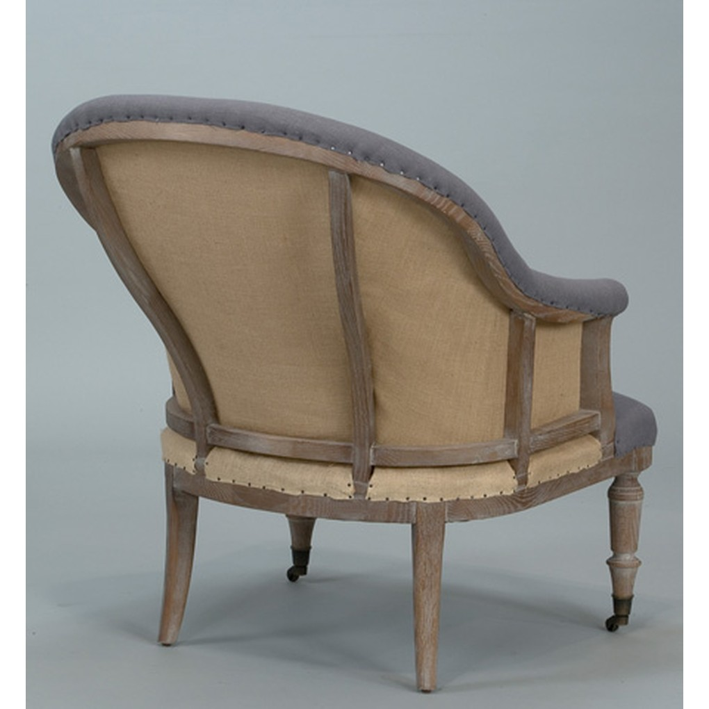 King George Blue Slipper Lounge Chair | Sarreid