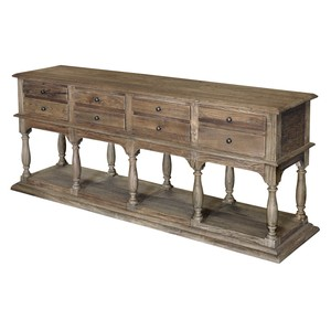 Elm Eight-Drawer Console