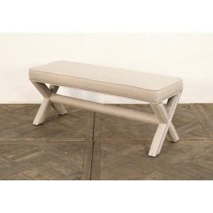 Linen X-Based Bench | GJ Styles