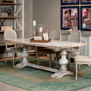 Disrupted White Lionisio Trestle Table