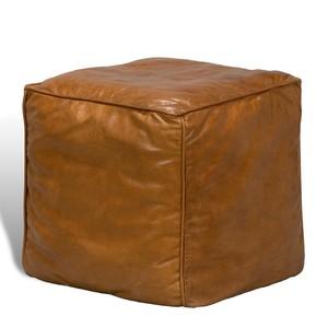 Leather Sitting Cube | Sarreid