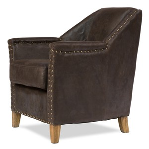 Granville Leather Chair | Sarreid