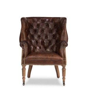 Welsh Leather Chair | Sarreid