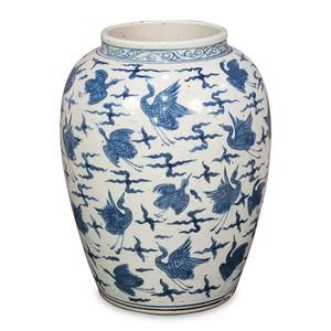 Blue & White Ceramic Vase | Sarreid