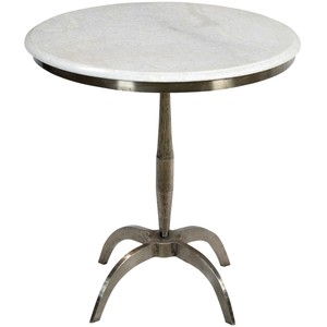 Iron and Marble Side Table