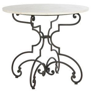The French Iron And Marble Table | Sarreid