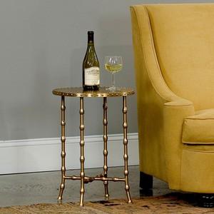 Brass Bamboo Side Table   Sarreid