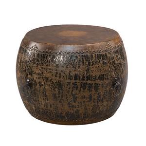 Black Drum Side Table | Sarreid