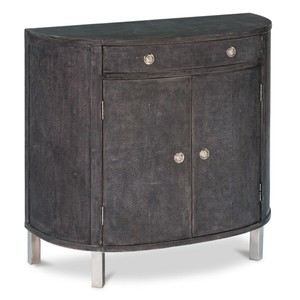 Shagreen Covered Demilune Cabinet | Sarreid