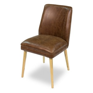 Metro Leather Side Chair