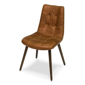 Harned Leather Side Chair | Sarreid