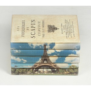 Eiffel Tower Books - Set Of Five
