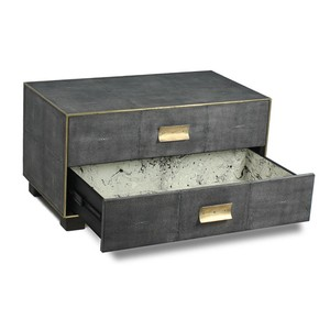 Golden Midnight Shagreen Low Chest | Sarreid