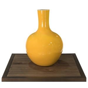 Yellow Globular Vase