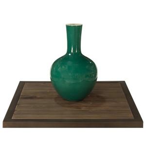 Emerald Green Globular Vase