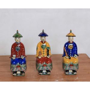 Sitting Porcelain Figurines - Set of Three