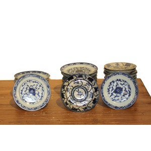 Collection of Blue and White Small Plates