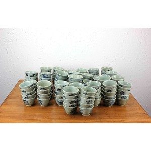 Collection of 349 Blue and White Cups