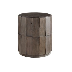 Everett Round Travertine End Table | Tommy Bahama Home