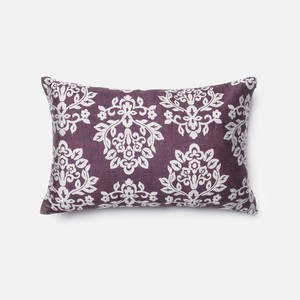 Plum and Silver Pillow