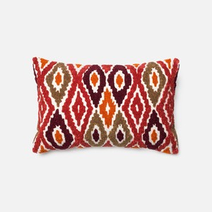 Red and Orange Pillow | Loloi