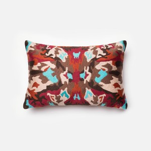 Red and Multicolor Pillow