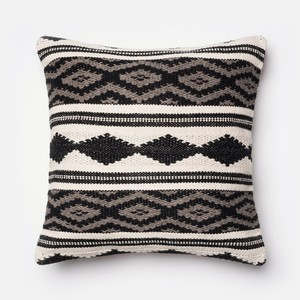 Grey and Multicolor Pillow