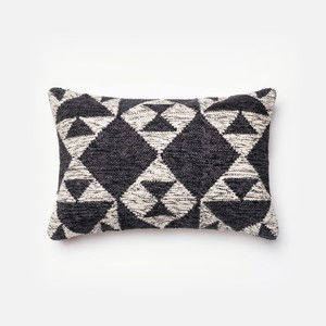 Charcoal and Ivory Pillow