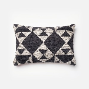 Charcoal and Ivory Pillow | Loloi