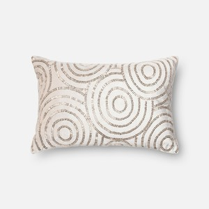 Beige and Silver Pillow
