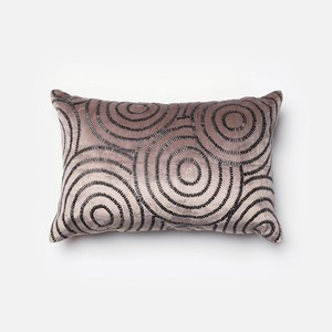 Charcoal and Black Pillow | Loloi