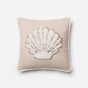 Beige and White Pillow | Loloi