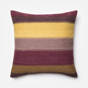 Plum and Multicolor Pillow