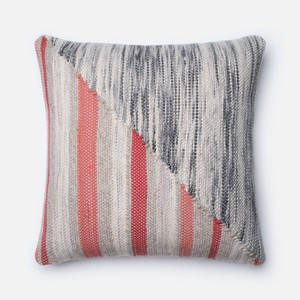 Grey and Coral Pillow