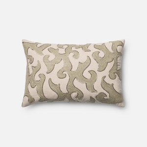 White and Beige Pillow | Loloi